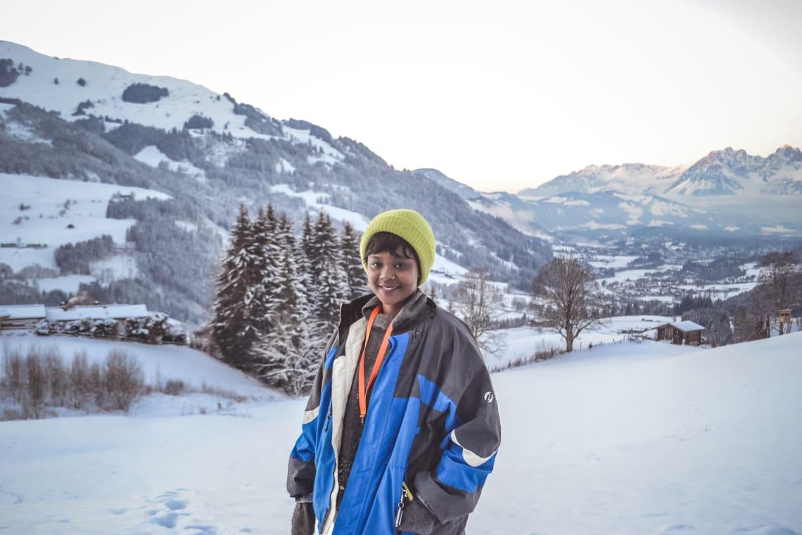 Os Alpes me ajudaram a manter uma rotina de nômade digital