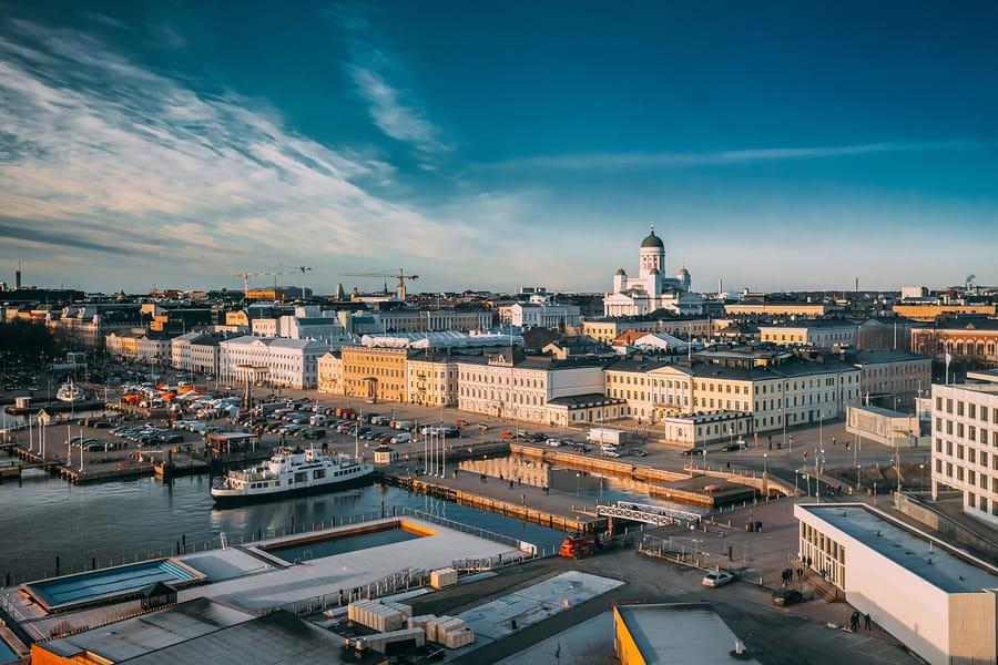 Vista panorâmica da cidade de Helsinki