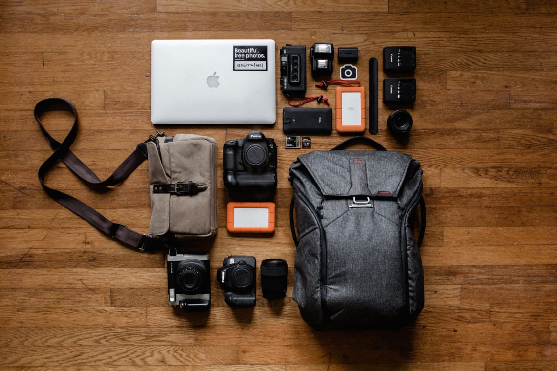 Tech packing items for travelers and digital nomads