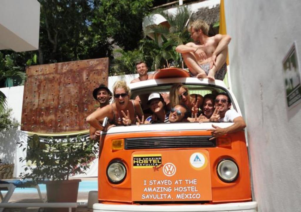 Voluntários em hostel no México