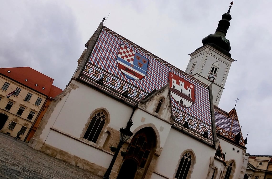 Medieval church in Zagreb, Croatia