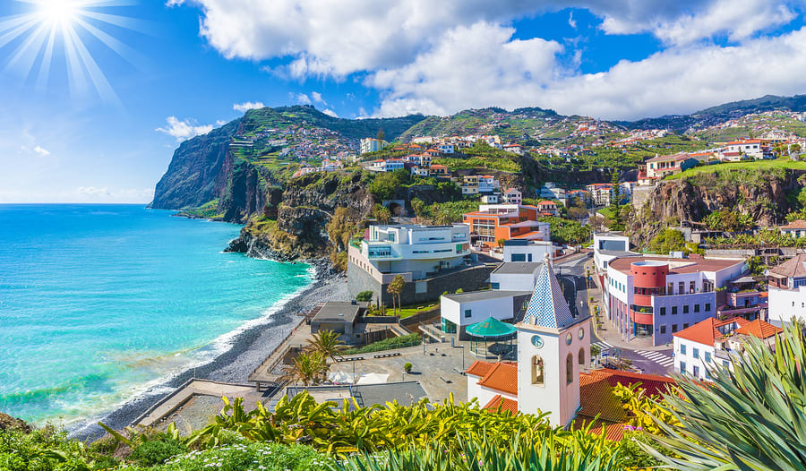 view from Madeira Island, in Portugal