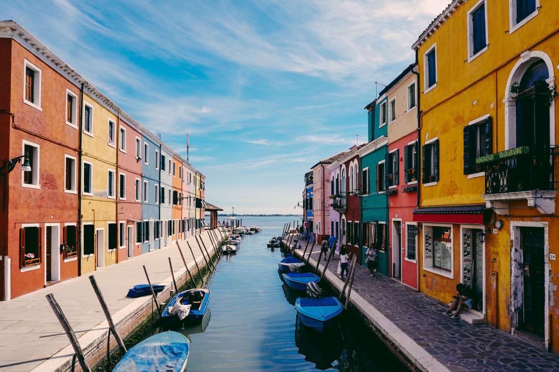 Colorful Burano Island, Venice, Italy, Europe