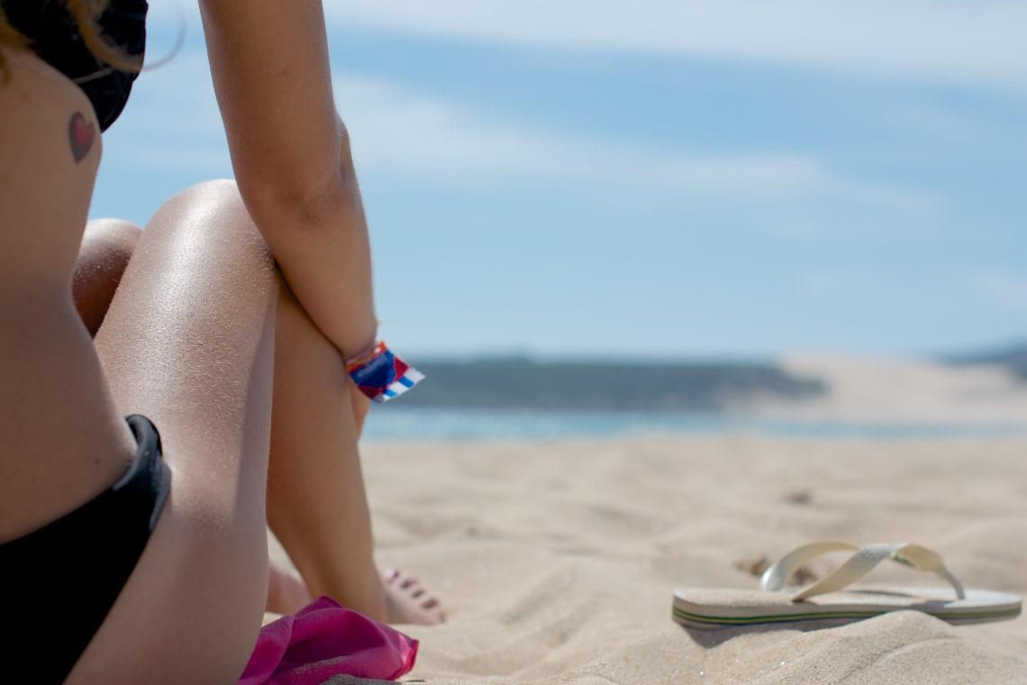 Relaxing on the beach, Tarifa, Spain