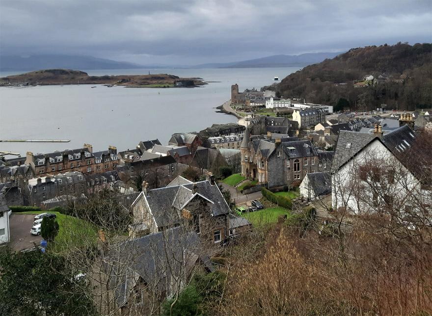 Oban, cidadezinha na Escócia que vou chamar de lar pelos próximos 3 meses nessa jornada de viver intensamente