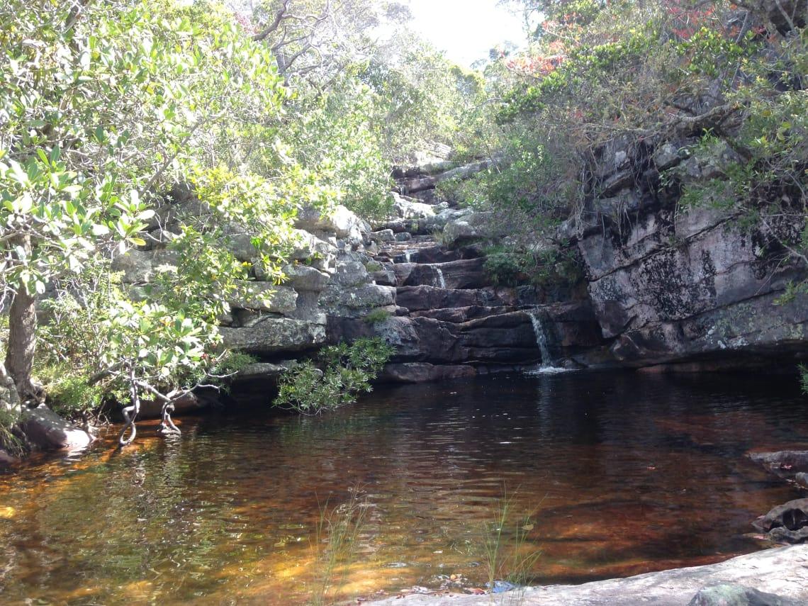 Cachoeira das crianças, na Chapada dos Veadeiros