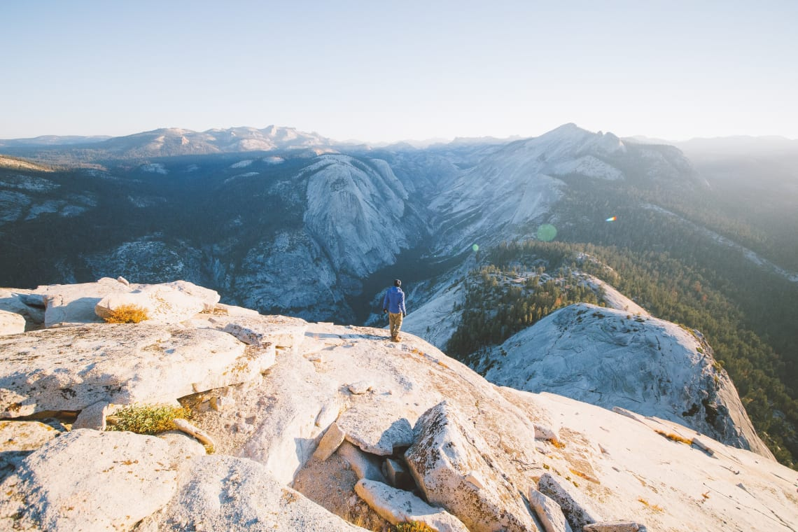 Hiker, Half Dome, Yosemite, United States