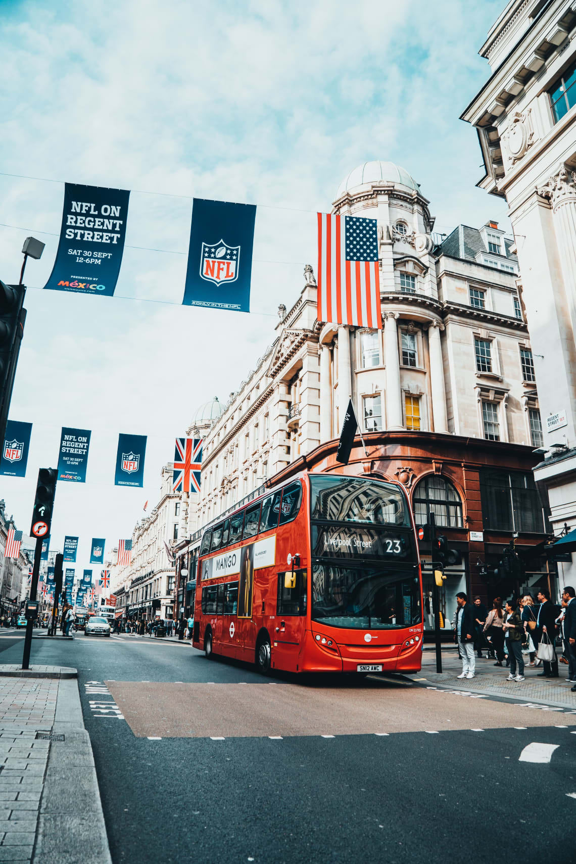 Public bus in London, England