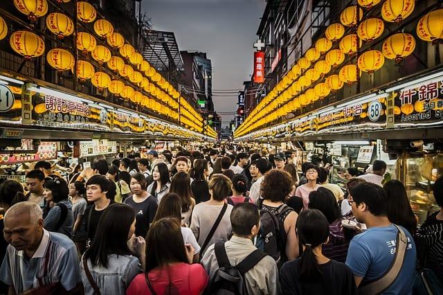 Mercado Noturno, uma das principais atrações de Taiwan