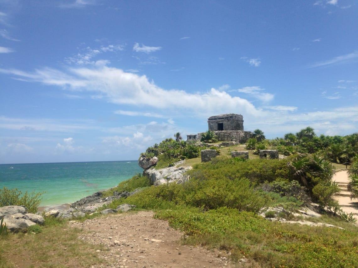 a única ruína maia de frente para o mar do Caribe, em Tulum