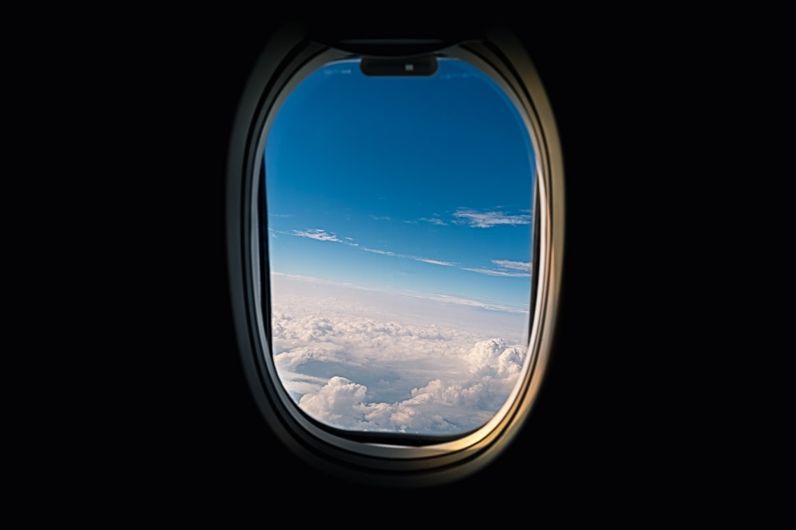 Airplane window views