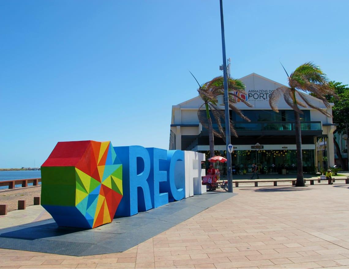Letreiro turístico de Recife