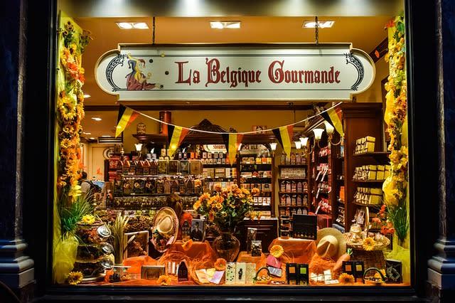 Loja de chocolate Belga