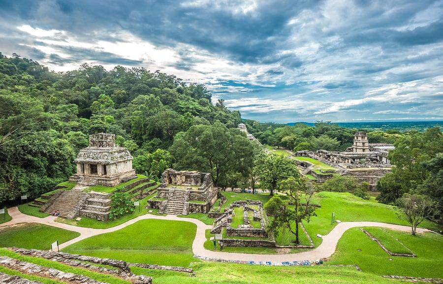 Chiapas - cidade histórica com ruínas da civilização maia