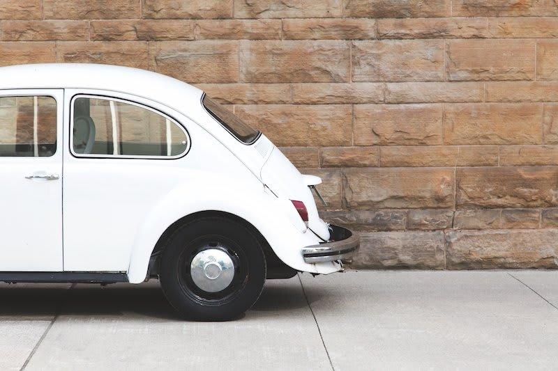 Vintage white Volkswagen