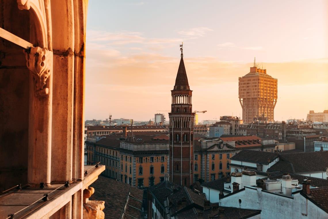 Sunset views, Milan, Italy