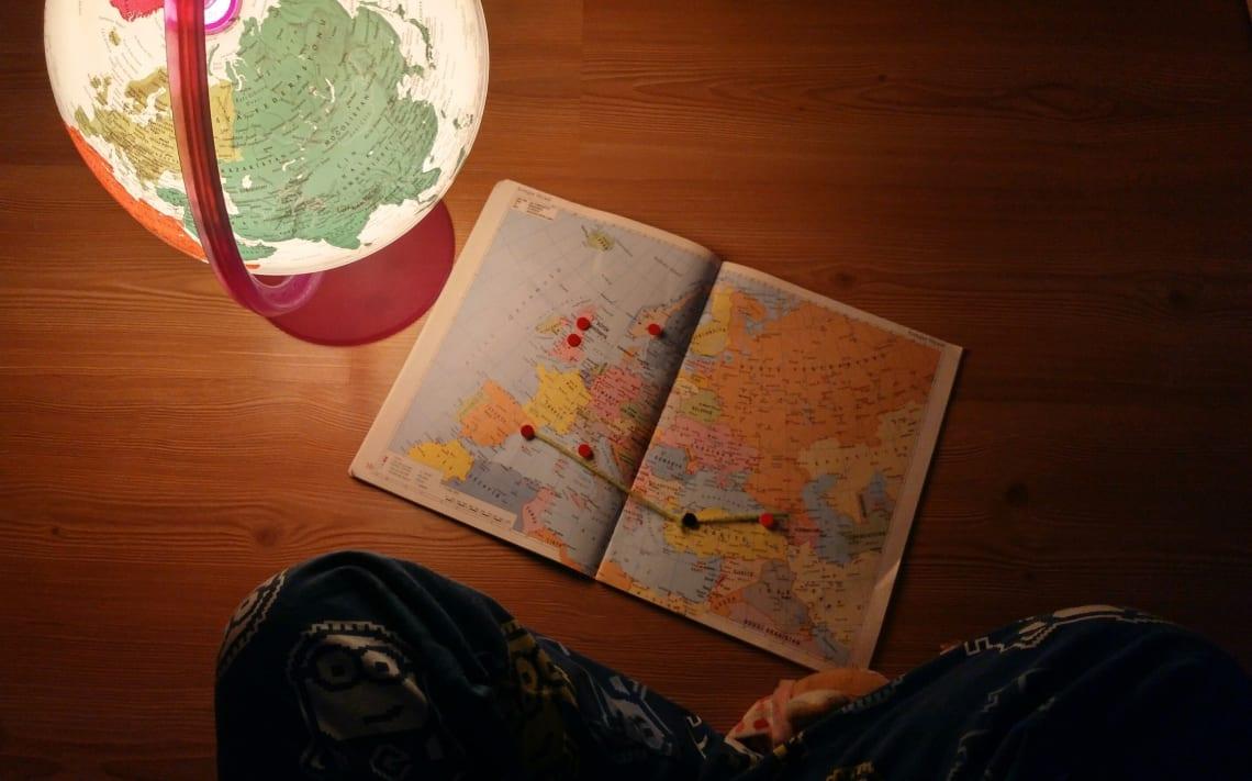 Traveler planning a sabbatical world trip
