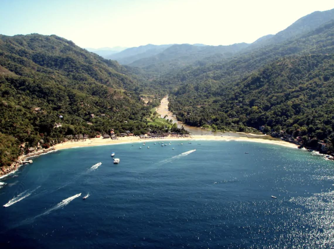 beach view of Yelapa in Mexico