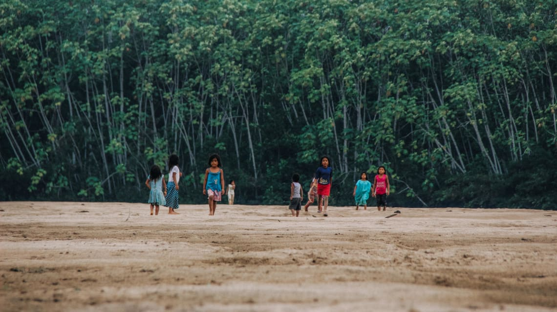 Local children playing, Amazon Rainforest