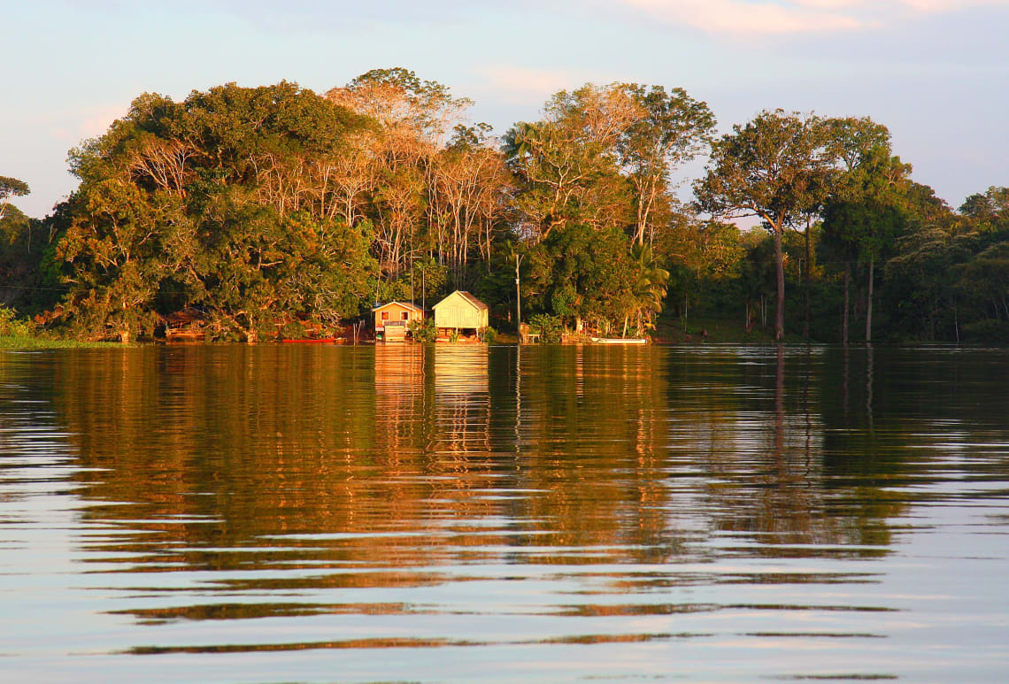Local villages on the Amazon River