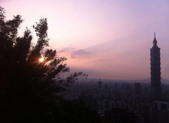 Morar fora: vista de Taiwan