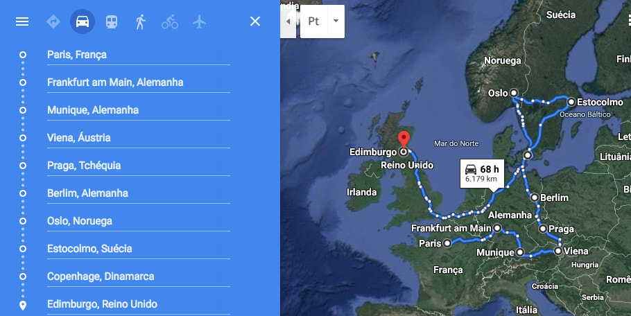 Itinerário mochilão na Europa