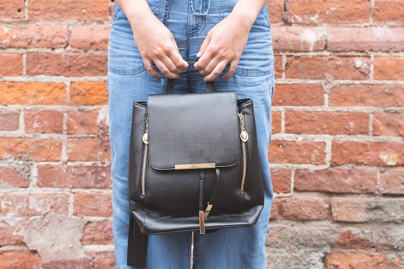 Stylish leather day bag