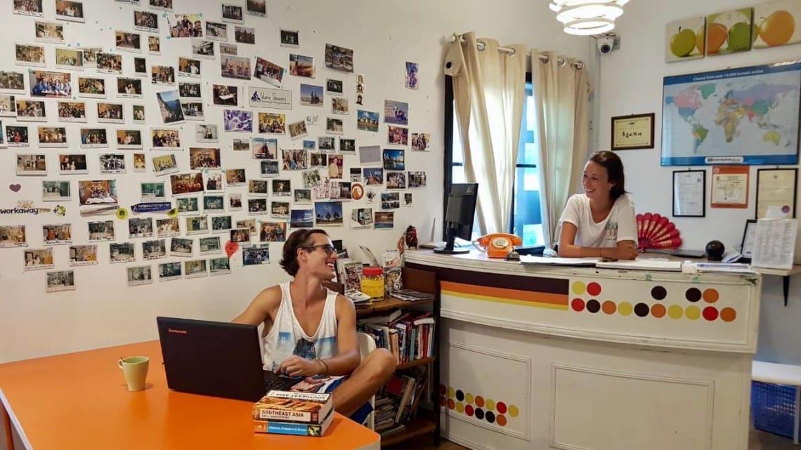 Viajar en pareja con Worldpackers - hostal en Singapur