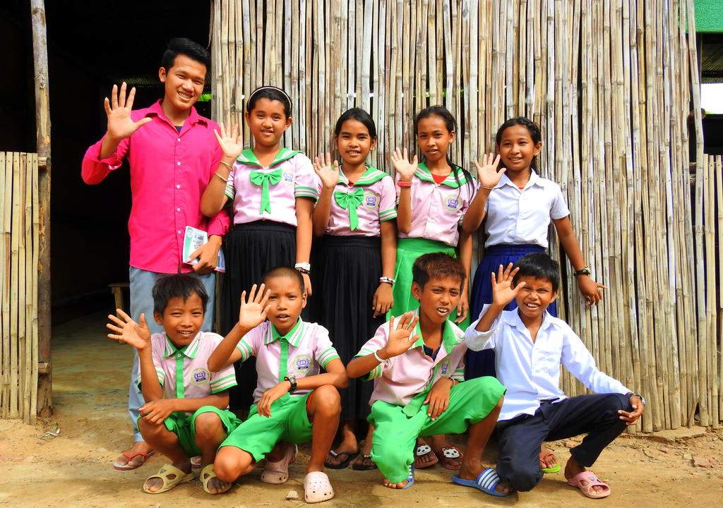 students of local project in Cambodia