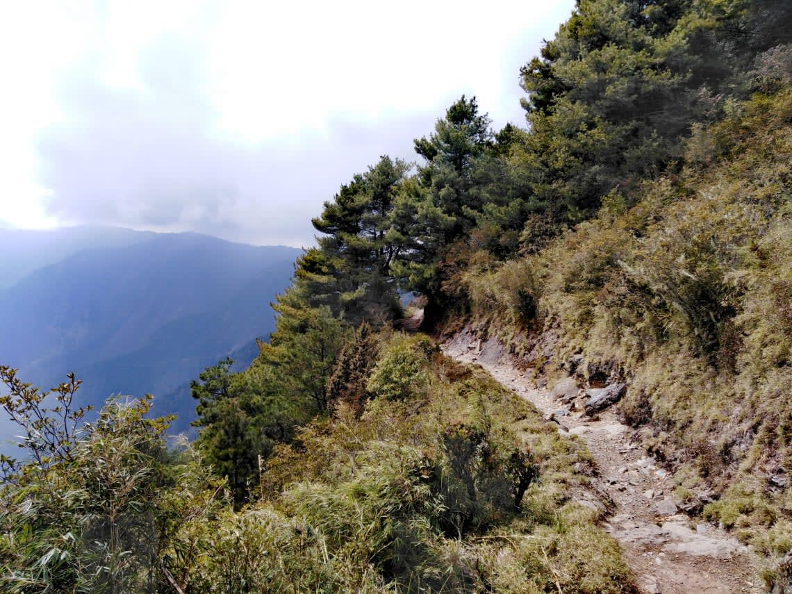 Vista da experiência de escalar uma montanha