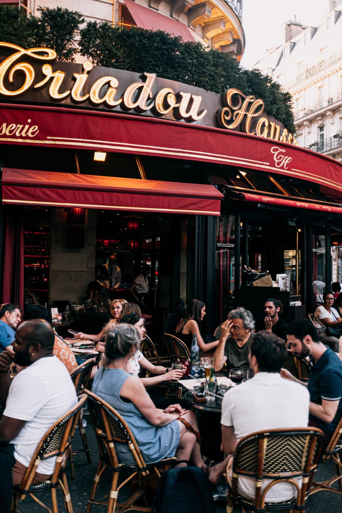 Cafe culture, Paris, France