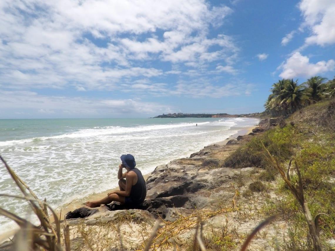 viajar de bike rota do sol praia do cotovelo