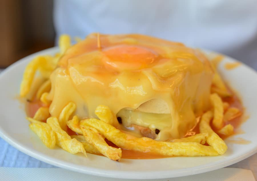 Francesinha is a typical Portuguese dish from Porto