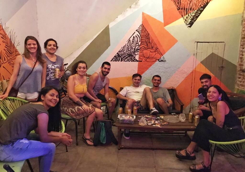 Voluntários no hostel em Córdoba