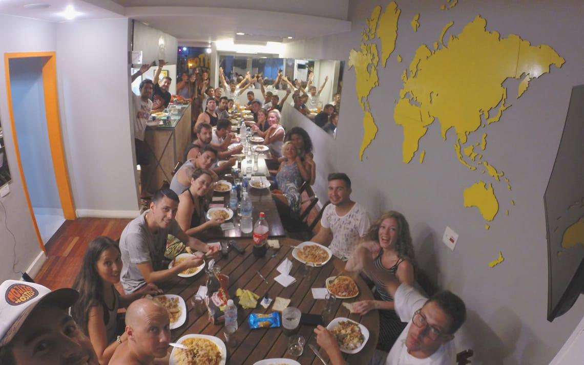 Jantar no Mojito Hostel