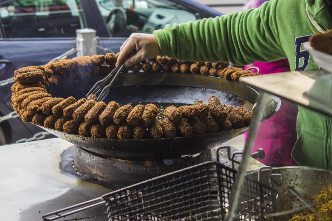 falafel vendido na Palestina