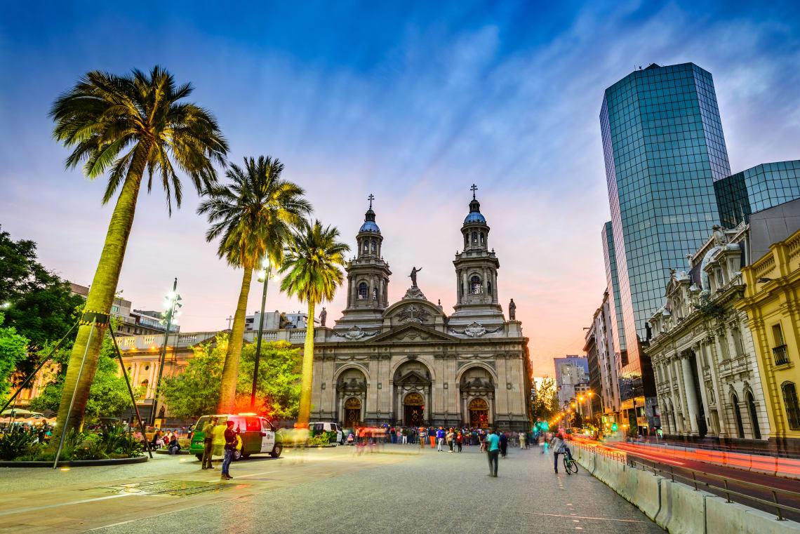 O centro de Santiago no Chile é uma ótima opção de passeio gratuito