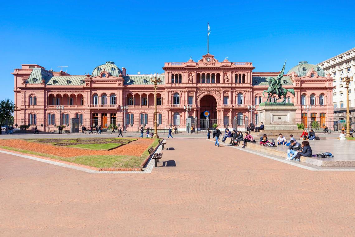 Casa rosada é um dos principais pontos turísticos de graça em Buenos Aires na Argentina