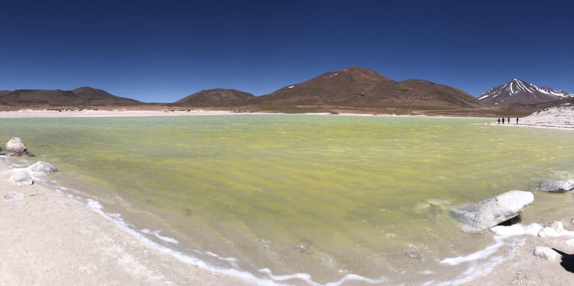 Lagoa que conheci durante meu mochilão por Peru, Bolívia e Chile