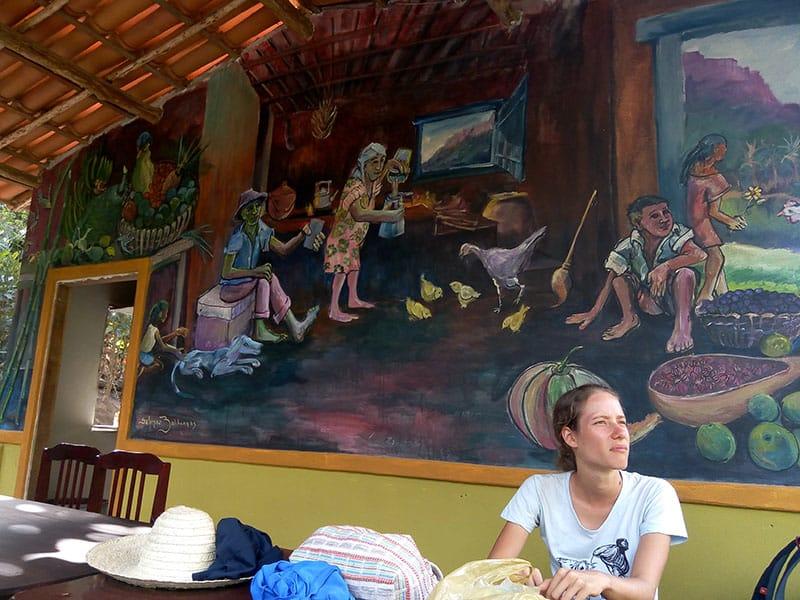 Mural de Salomão Zalcbergas no Vale do Capão