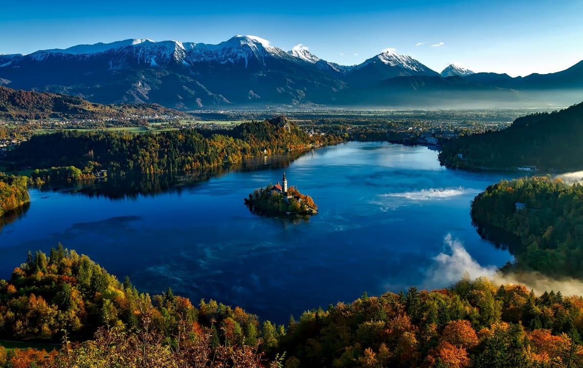 A vegetação é marcante na Eslovênia, um dos países mais seguros do mundo