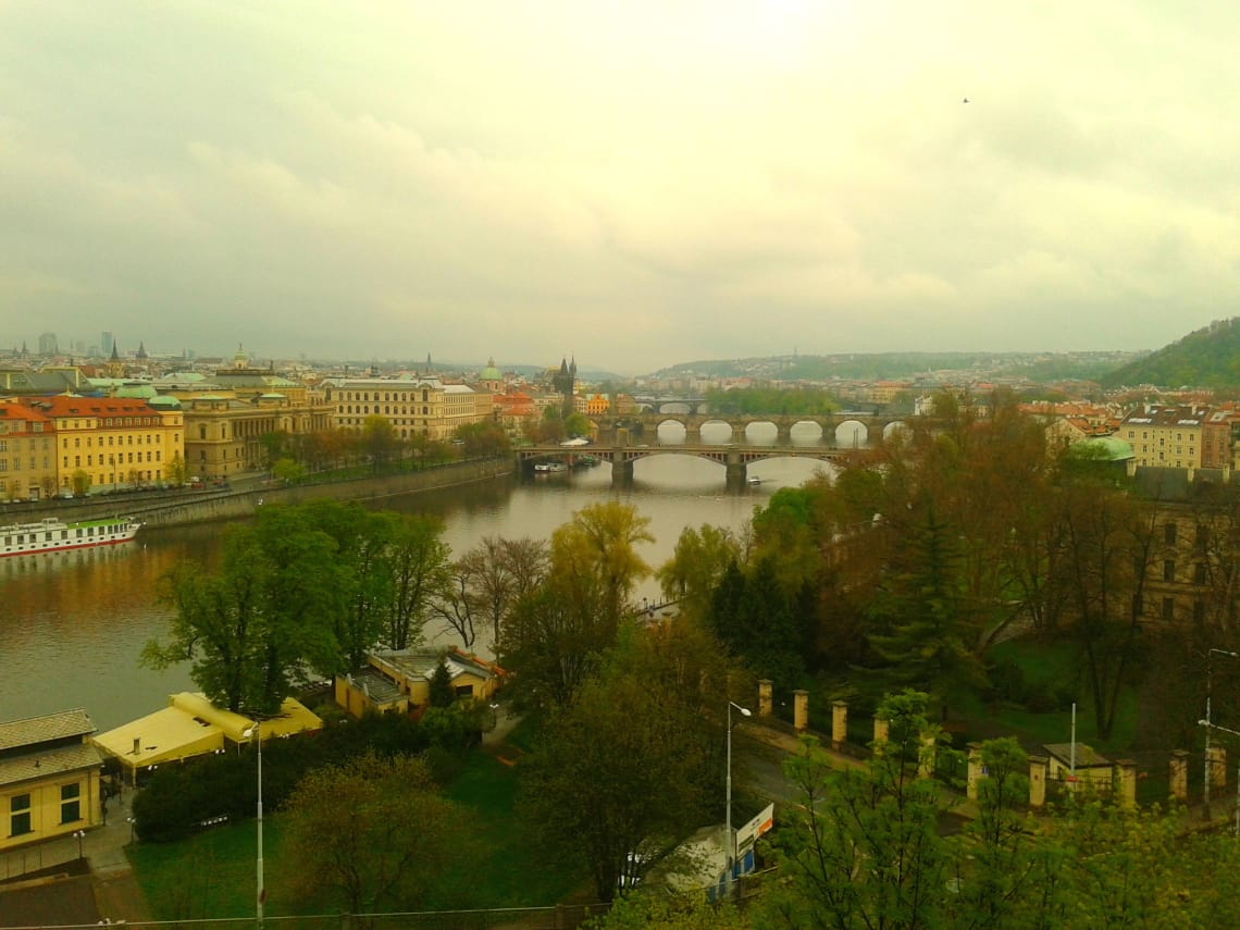 Vista da cidade de Praga