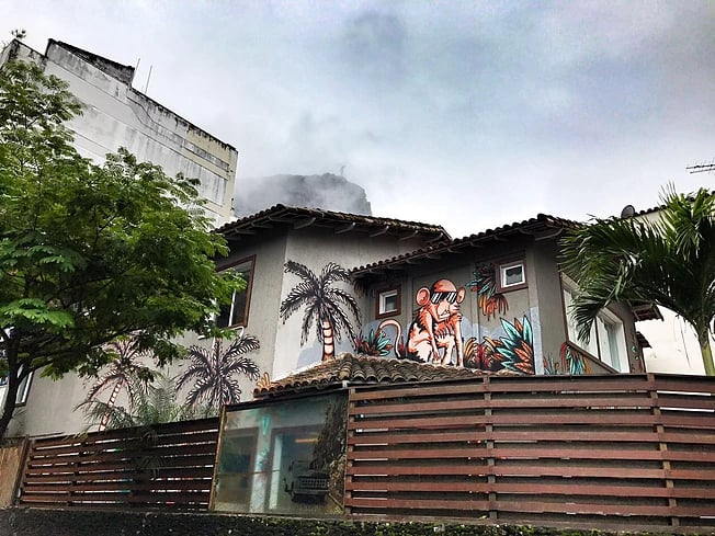 Frente do The Hostel Rio de Janeiro