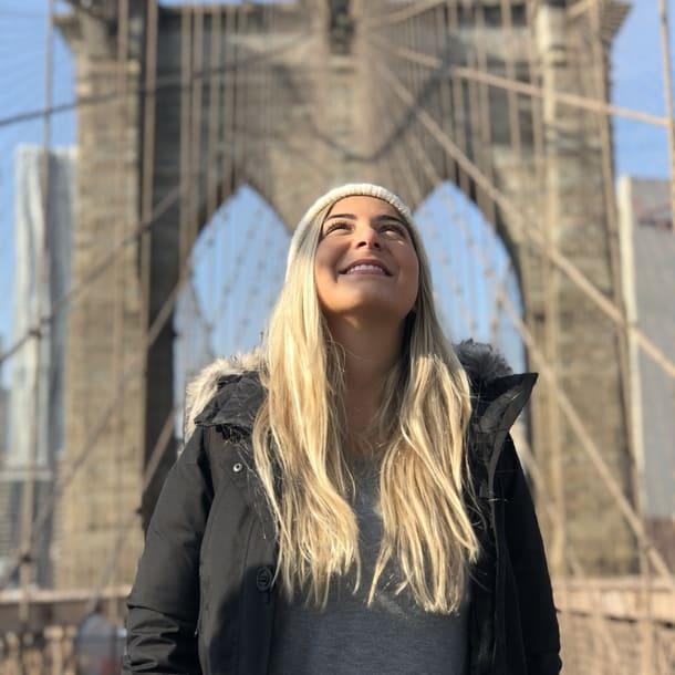Ana Bertholdo em Nova York depois de viajar com a Worldpackers