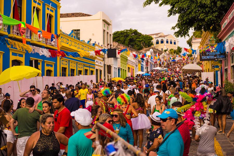 Carnaval em Olinda, Recife, Brasil.