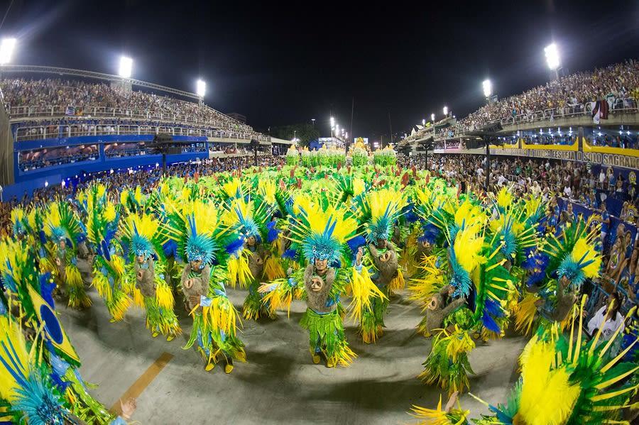 Desfile na Sapucaí, carnaval no Rio de Janeiro, Brasil