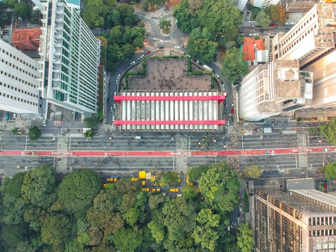 Avenida Paulista, símbolo da cidade de São Paulo, Brasil.