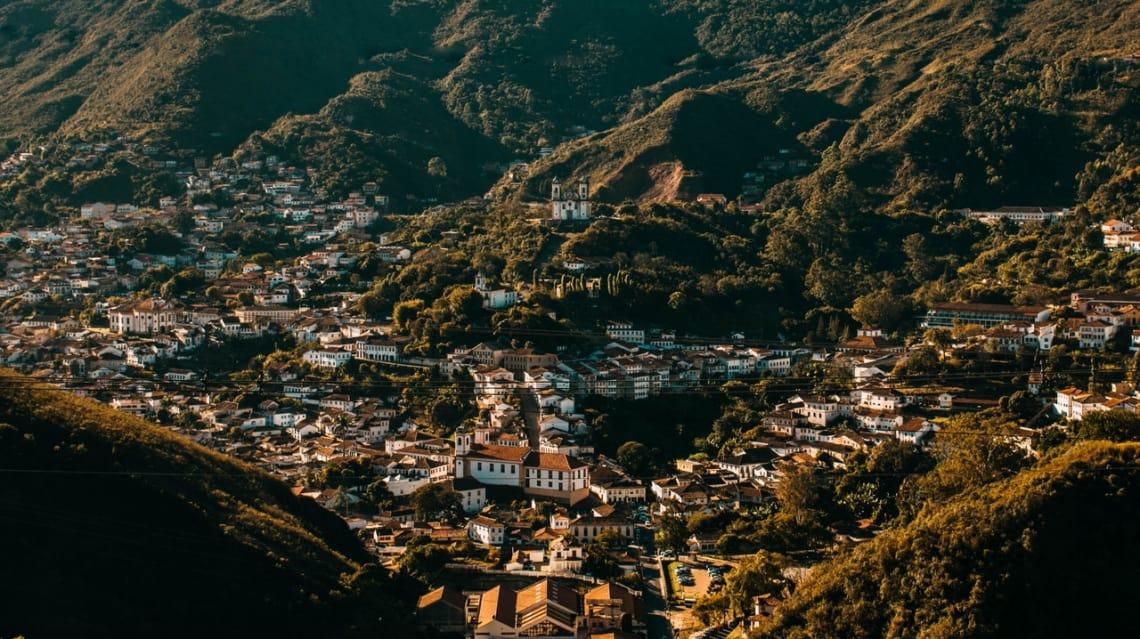 Ouro Preto, cidade história em Minas Gerais, Brasil