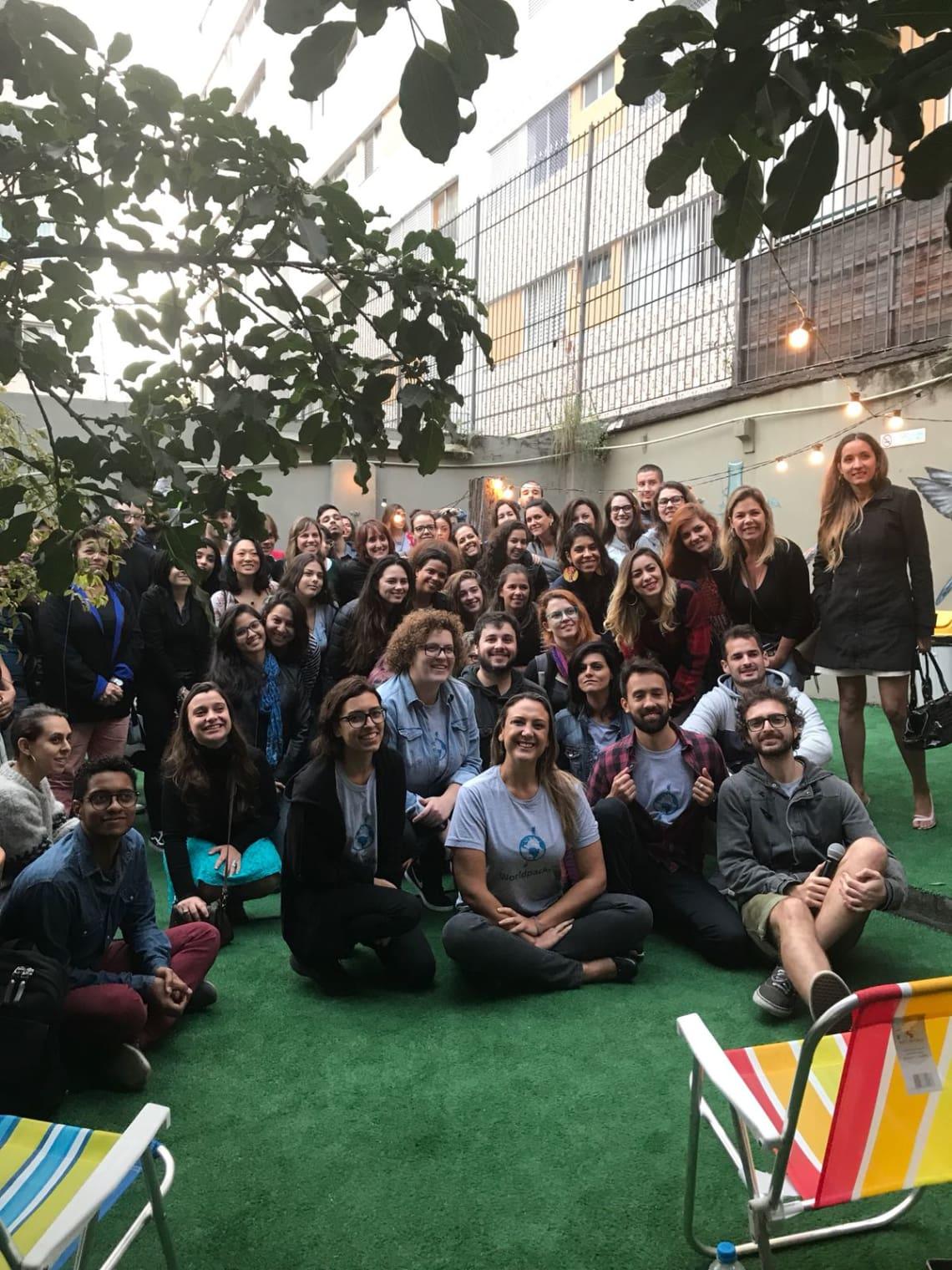 Encontro de viajantes promovido pela Worldpackers em São Paulo