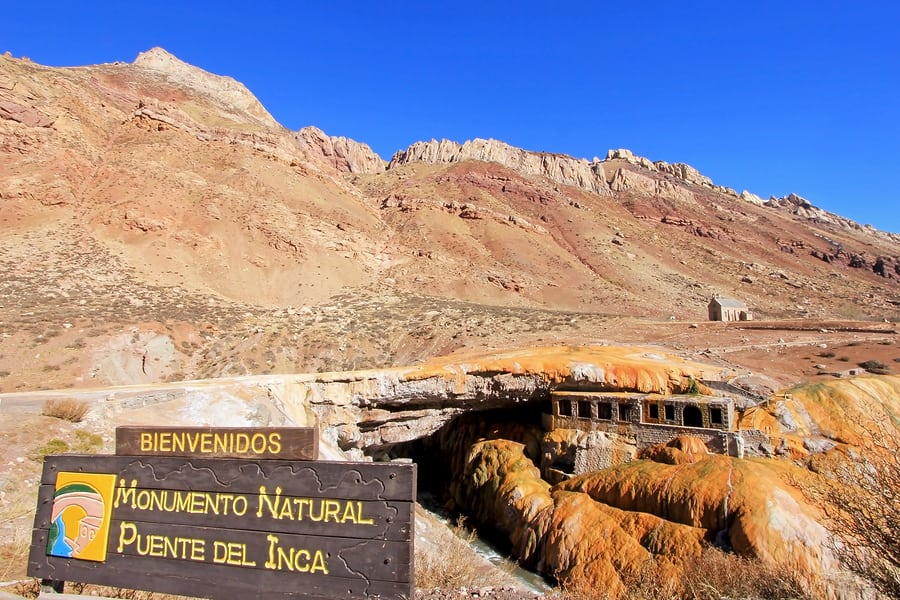 Monumento natural, Mendoza, Argentina.
